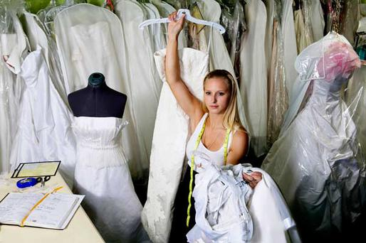 Tears of self-loathing, anticipation or joy are often part of the wedding dress process