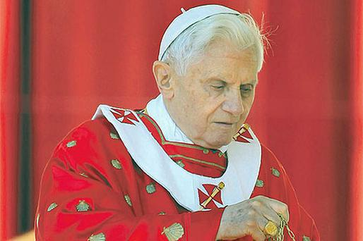 Pope Benedict XVI leads the Palm Sunday Mass at the Vatican last week