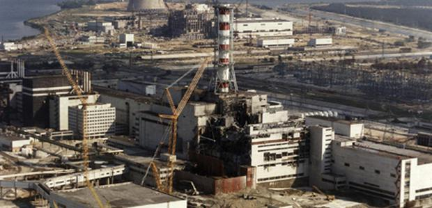 The Chernobyl nuclear power station in Ukraine after it suffered a meltdown in 1986. Photo: Getty Images