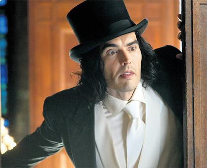 Russell Brand adopts a squeaky voice and stretches his acting abilities to the limit