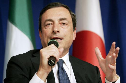 Mario Draghi, who may take the position as ECB head, has spoken of a solution for the 'addicted' banks