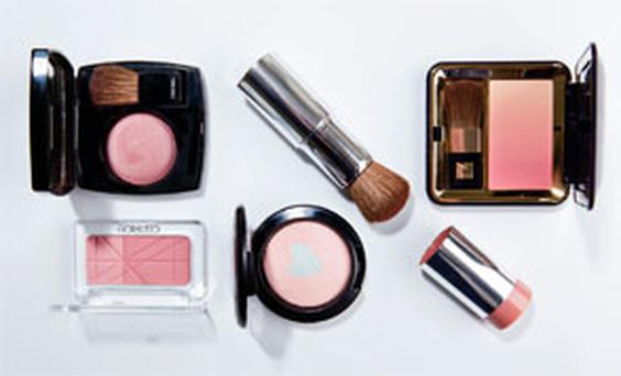 Pictured, clockwise from top left: Chanel Powder Blush in Rose Temptation; Clinique Quick Blush in Peach-In-A-Pinch; Estee Lauder Signature Silky Powder Blush in Peach Nuance; Mac Mineralize Blush in Miss Behave; Catrice Defining Duo Blush in Raspberry Ice Cream