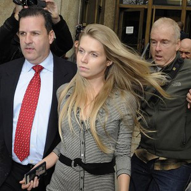 Theodora Richards remained silent as she left court in Manhattan