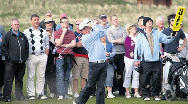 Paul Cutler showed the form that has him in line for September's Walker Cup at Rosses Point yesterday.