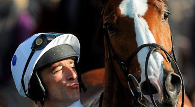 Davy Russell shows his appreciation to Jack Cool after his victory at Fairyhouse