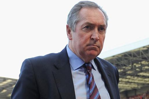 Aston Villa manager Gerard Houllier Photo: Getty Images