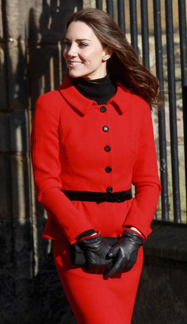 ST ANDREWS, SCOTLAND - FEBRUARY 25: Kate Middleton smiles as she meets members of the public during a visit to the University of St Andrews on February 25, 2011 in St Andrews, Scotland. The couple returned to the university where they first met to launch a fundraising campaign for a new GBP 13 million scholarship and students support. The couple will marry in a much anticipated ceremony at Westminster Abbey on April 29th. (Photo by Chris Jackson/Getty Images)