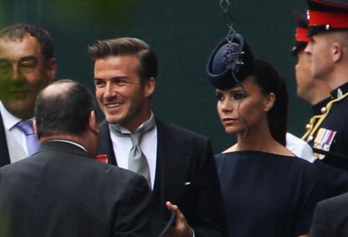 Victoria Beckham wore a pillbox hat by Irish milliner Philip Treacy
