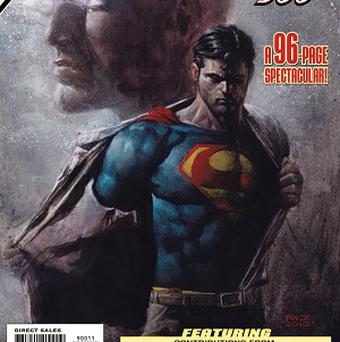 Superman is shown in the latest of issue of Action Comics No 900 (AP)