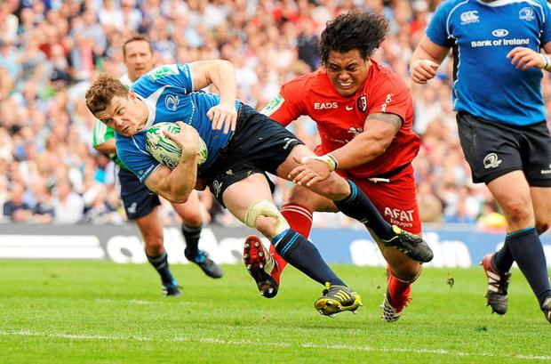 MOMENT OF TRUTH: Brian O'Driscoll's great try was the epic game's defining moment. Photo: Brendan Moran