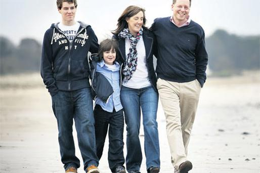 Vigilant: The Mitmans - Bill, Jack, Gina and Chris - pictured at home in Waterford.