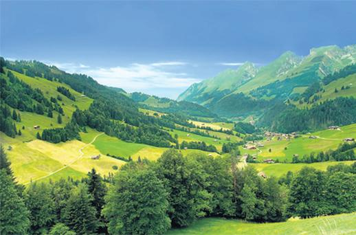 The rolling landscapes of Gruyères