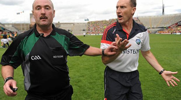 Martin Sludden will be part of the Championship panel this season despite causing outrage among Louth supporters and their manager Peter Fitzpatrick.