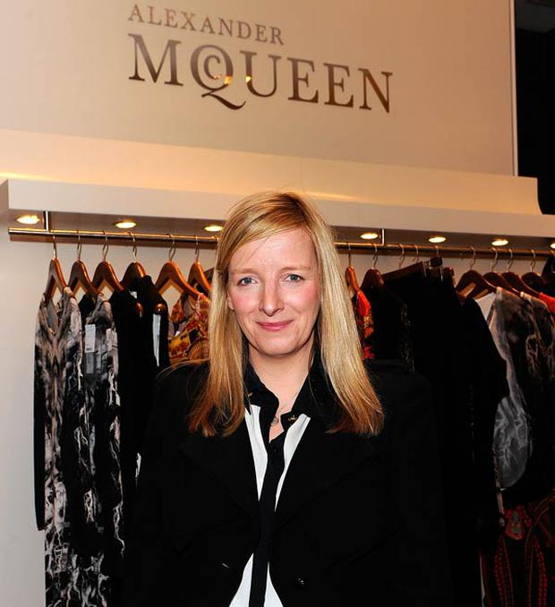 Sarah Burton, creative director of Alexander McQueen, pictured at a personal shopping event in New York