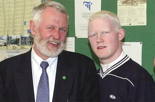 Sinn Fein TD Martin Ferris with his son Cianan