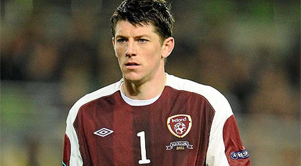 Keiren Westwood was ruled out of Ireland's Euro 2012 qualifier with Macedonia