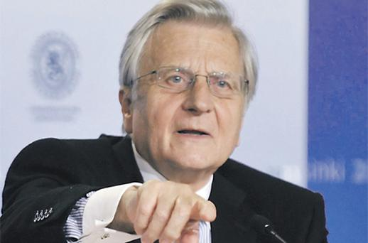 ECB president Jean-Claude Trichet in the press conference in Helsinki, yesterday