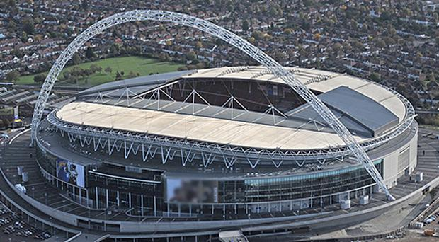The London base from which Perumal ran his international empire is close to Wembley stadium. Photo: Getty Images