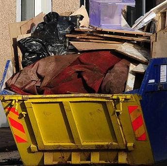 A homeless man has been arrested for failing to notify police that he moved out of the skip he listed as his address