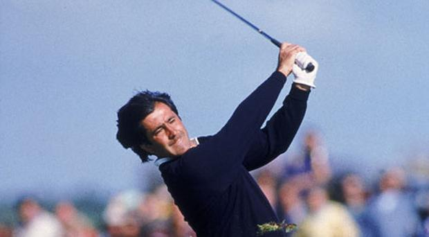 Seve Ballesteros in full swing at Royal Lytham during the 1988 British Open. Photo: Getty Images
