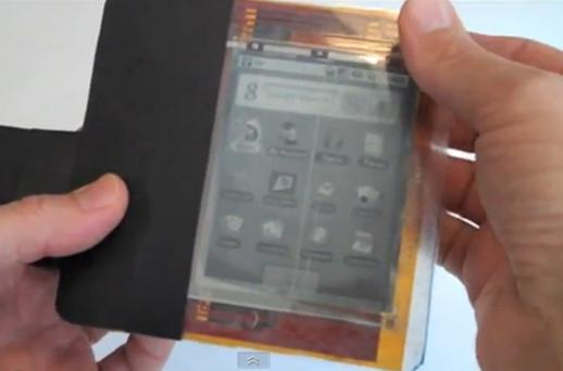 The PaperPhone lets people make calls by bending the epaper