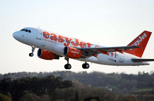 Easyjet passenger numbers increased 12pc to 23.9 million despite the disruption from the snow in December. Photo: PA