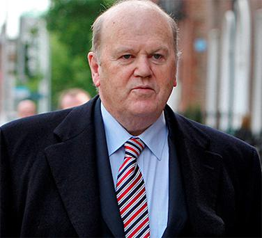 Michael Noonan arriving at Government Buildings yesterday. Photo: Tom Burke