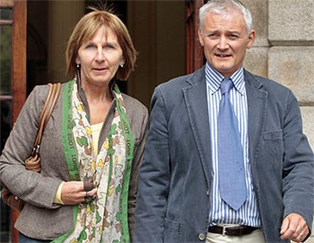 Christopher and Patricia Joyce outside court yesterday