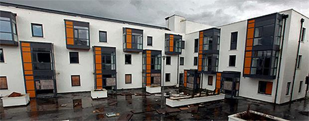 The Mill apartments, Ballisodare, Co Sligo, which were finished in 2006 but now lie empty