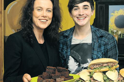 At the launch were BWG marketing and communications manager Suzanne Weldon, with the host of RTE's new cooking programme 'Kitchen Hero', Donal Skehan, shown here on set for the filming of the show