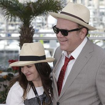 Director Lynne Ramsay (left) and actor John C Reilly are in Cannes
