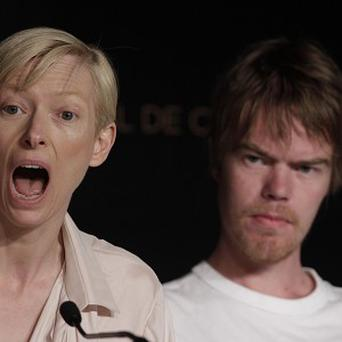 Tilda Swinton, left, and Rory Stewart Kinnear talk We Need to Talk About Kevin