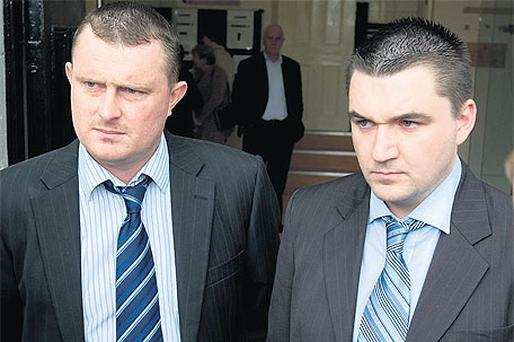 Gary Wright, left, and Aidan Dalton who were cleared of Graham Parish's manslaughter