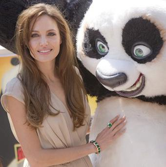 Angelina Jolie was promoting Kung Fu Panda 2 in Cannes