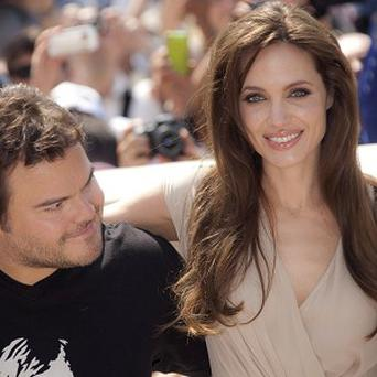 Actors Jack Black and Angelina Jolie are in Cannes