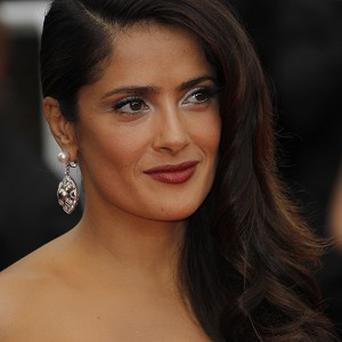 Mexican actress Salma Hayek is in Cannes