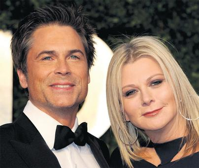 HIGHS AND LOWES: Rob Lowe, pictured with his wife Sheryl, is the first of the Brat Pack to write an autobiography and in it he proves he has learned to glide away from conflict… sometimes at the expense of emotional truth