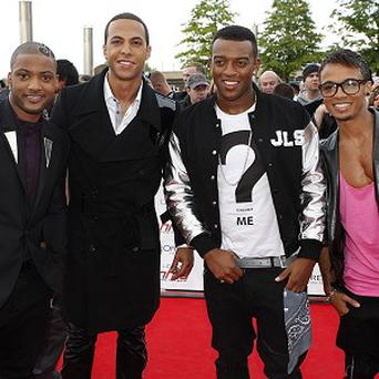JLS arrive for the 2011 National Movie Awards at Wembley Arena, London