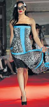 Animal print chiffon and Swarovski-embellished dress, €2,295, by Claire O'Connor