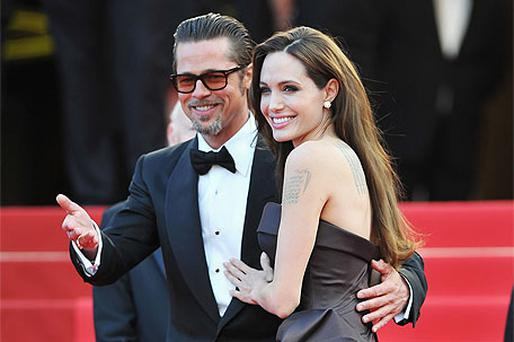 Brad Pitt and Angelina Jolie attend 'The Tree Of Life' premiere during the Cannes Film Festival