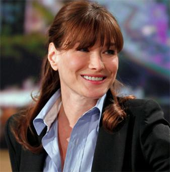French President's wife Carla Bruni-Sarkozy who has been coy about whether she is pregnant. Photo: AP