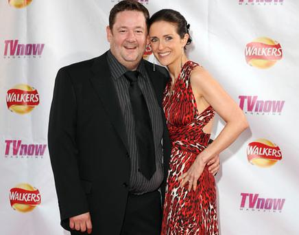 JUST MARRIED: Maia Dunphy and her husband Johnny Vegas