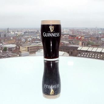 A storm in a tea cup was replaced by a palaver over a pint glass after a Duke of Edinburgh quip at the Guinness brewery