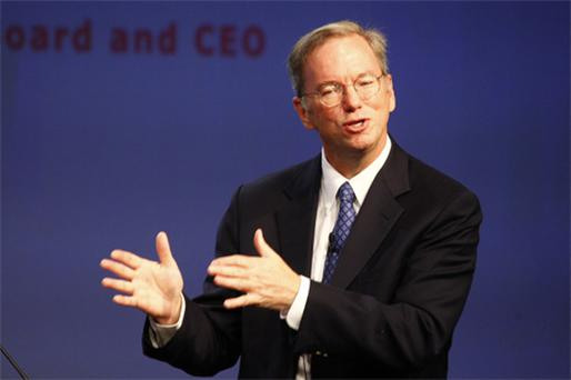 Eric Schmidt: 'I am incredibly optimistic about what is going to be possible in the next decade, we have spent our whole career getting to this point.' Photo: Getty Images