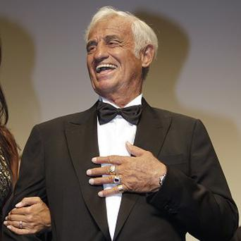 Jean-Paul Belmondo attends the ceremony celebrating his career in Cannes