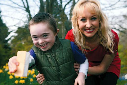 Ross Brett (6) from Bray and RTÉjr presenter Emma O'Driscoll