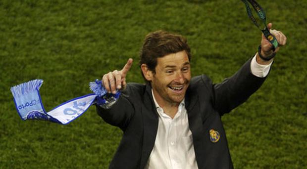 Porto boss Andre Villas-Boas celebrates after becoming the youngest manager to lift a European club title. Photo: Reuters