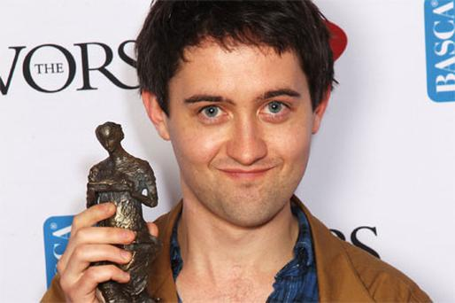 Conor O'Brien with his gong at the Ivor Novello Awards