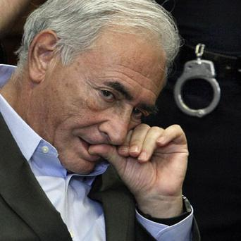 TRIAL: Mr Strauss-Kahn in New York's Supreme Court last Thursday Photo: AP