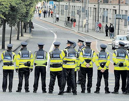 Tight security surrounded the visit of Queen Elizabeth to Dublin last week
